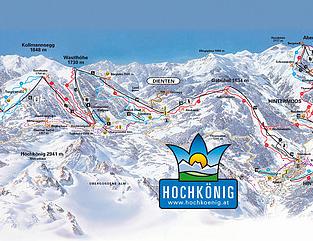 Mapa střediska - areálu - Dienten - Ski Amade