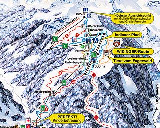 Mapa střediska - areálu - Fageralm Bergbahnen - Ski Amade