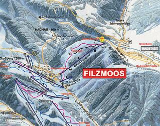 Mapa střediska - areálu - Filzmoos - Ski Amade