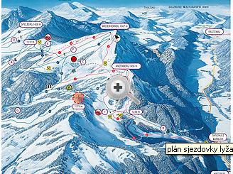 Mapa střediska - areálu - Gaissau Hintersee