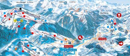 Mapa střediska - areálu - Goldegg - Ski Amade
