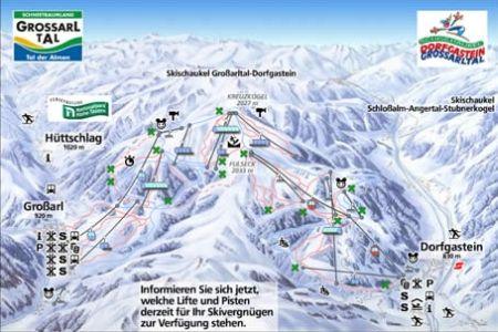 Mapa střediska - areálu - Grossarltal - Ski Amade