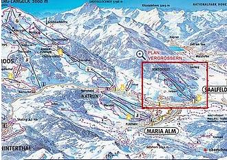 Mapa střediska - areálu - Hinterreit Saalfelden