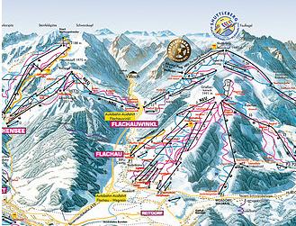 Mapa střediska - areálu - KleinArl - Flachauwinkl - Ski Amade