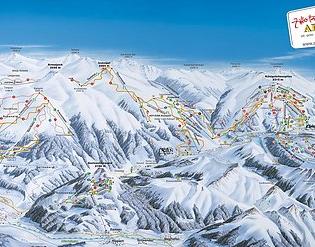 Mapa střediska - areálu - Konigsleiten Wald - Zillertal Arena