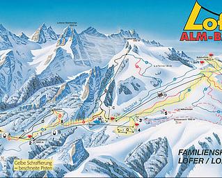 Mapa střediska - areálu - Loferer Alm
