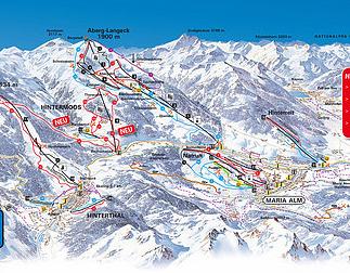 Mapa střediska - areálu - Maria Alm - Ski Amade