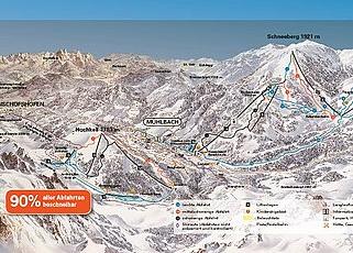 Mapa střediska - areálu - Mulhbach am Hochkoenig - Ski Amade
