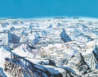 Mapa střediska - areálu - Postalm
