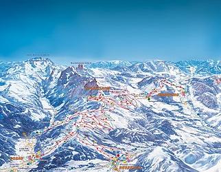 Mapa střediska - areálu - Russbach Am Pass Gschutt