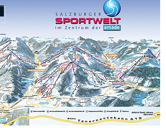 Mapa střediska - areálu - Sankt Johann - Alpendorf - Ski Amade