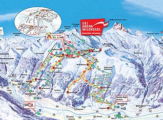 Mapa střediska - areálu - Ski - Arena Wildkogel
