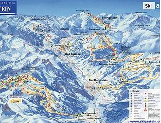 Mapa střediska - areálu - Sportgastein - Ski Amade