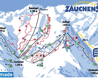 Mapa střediska - areálu - Zauchensee - Flachauwinkl - Ski Amade
