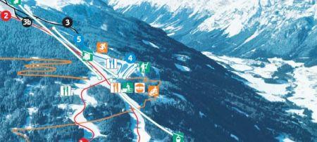 Mapa střediska - areálu - Bergeralm