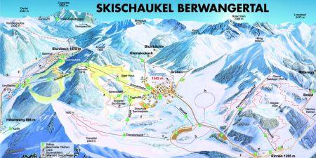 Mapa střediska - areálu - Berwang