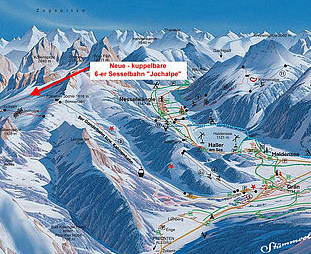 Mapa střediska - areálu - Fussener Jochle - Gran