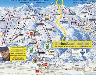 Mapa střediska - areálu - Hochfugen