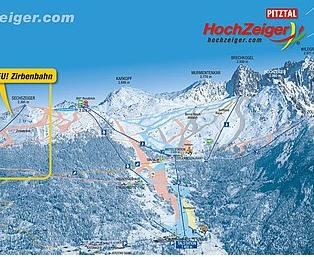 Mapa střediska - areálu - Hochzeiger - Pitztal