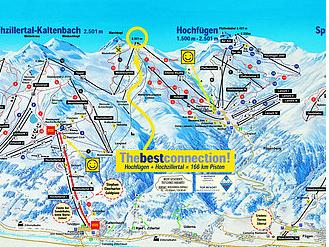 Mapa střediska - areálu - Hochzillertal
