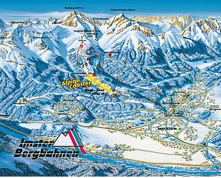 Mapa střediska - areálu - Imster Bergbahnen