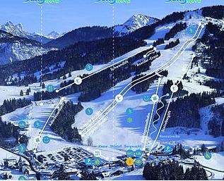 Mapa střediska - areálu - Jungholz