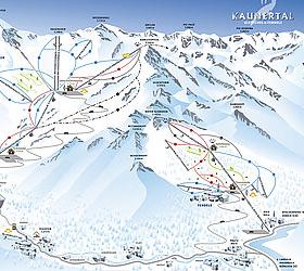 Mapa střediska - areálu - Kaunertaler Gletscher