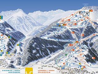 Mapa střediska - areálu - Lermoos Langes - Resorts