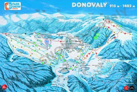 Mapa střediska - areálu - Donovaly