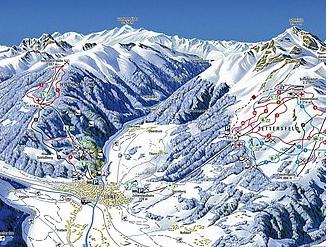 Mapa střediska - areálu - Lienzer Bergbahnen - Zettersfeld/Hochstein