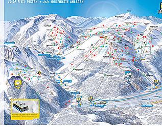 Mapa střediska - areálu - Mayrhofen - Zillertal