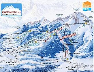 Mapa střediska - areálu - Mutterer Alm