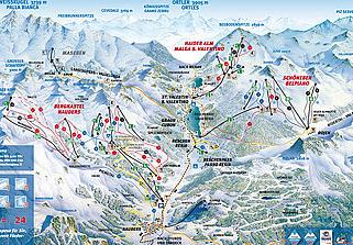 Mapa střediska - areálu - Nauders