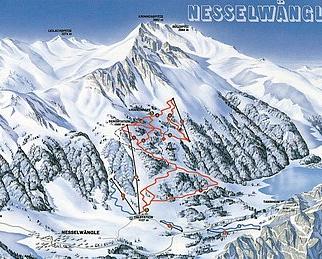 Mapa střediska - areálu - Nesselwangle