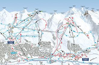 Mapa střediska - areálu - Obergurgl - Hochgurgl