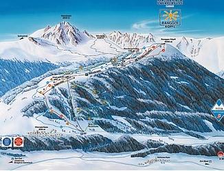 Mapa střediska - areálu - Oberperfuss - Rangger Kopfl