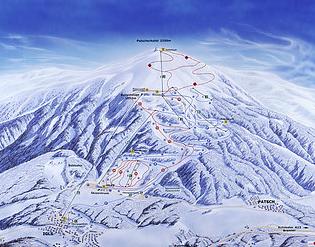 Mapa střediska - areálu - Patscherkofel