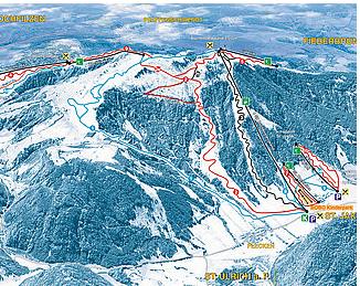 Mapa střediska - areálu - Pillersee