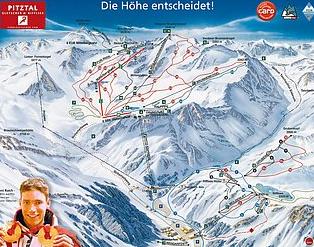 Mapa střediska - areálu - Pitztal - Pitztaler Gletscher - Rifflsee