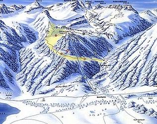 Mapa střediska - areálu - Rofanseilbahn Maurach - Achensee