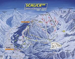 Mapa střediska - areálu - Schlick 2000