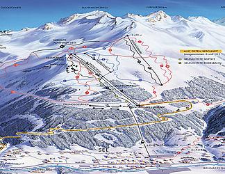 Mapa střediska - areálu - See