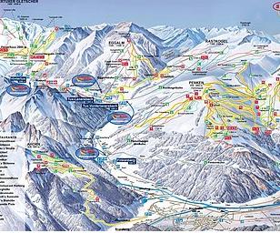 Mapa střediska - areálu - Ski - Und Gletscherwelt Zillertal 3000