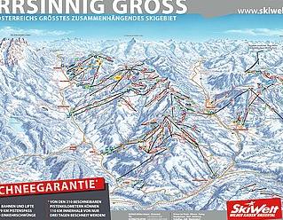 Mapa střediska - areálu - Skiwelt - Going