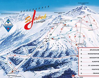 Mapa střediska - areálu - St.Jakob