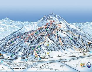 Mapa střediska - areálu - St.Johann Im Tirol