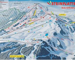 Mapa střediska - areálu - Steinplatte
