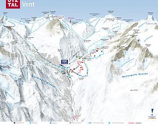 Mapa střediska - areálu - Venter Seilbahnen