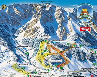 Mapa střediska - areálu - Zammer Kaiser/Walchsee