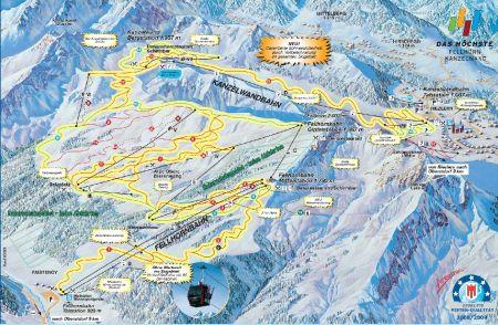 Mapa střediska - areálu - Fellhorn - Kanzelwand